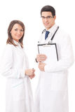 Two medical people, isolated Stock Photography