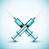 Two medical syringe Royalty Free Stock Photography