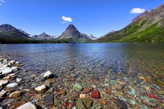 Two medicine lake Royalty Free Stock Images