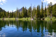 Two medicine lake Royalty Free Stock Photos