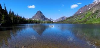 Two medicine lake Royalty Free Stock Image