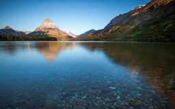 Two medicine lake, glacier national park, in the morning Stock Images