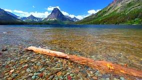Two Medicine Lake Glacier National Park stock footage