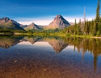 Two Medicine Reflection. Glacier National Park, Montana Stock Images
