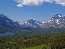 Two Medicine Region. This image of the lake with the mountains in the background was taken on the eastern side of Glacier National Park in Montana Royalty Free Stock Photos