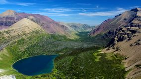 Two Medicine Valley and Old Man Lake. Glacier National Park, Montana Royalty Free Stock Photos