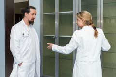 Two medicine workers Royalty Free Stock Photography