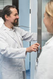 Two medicine workers Stock Photo