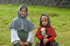 Two medieval girl Royalty Free Stock Photography