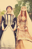 Two medieval ladys Stock Photography