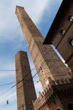 Two medieval towers of Bologna Royalty Free Stock Photo
