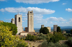 Two medieval towers Stock Photos