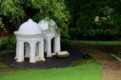 Two meditating cupolas in park Stock Photos