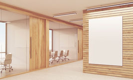 Two meeting rooms and sunlit poster Stock Images