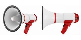 Two megaphone Stock Image