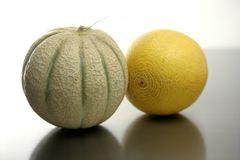 Two Melon fruits Stock Image