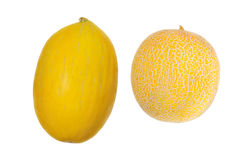 Two melons of different grades Stock Photo