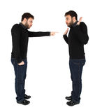 Two men accused against himself Royalty Free Stock Image