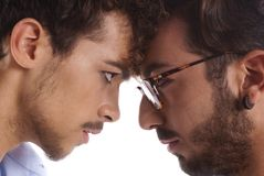 Two men against each other Royalty Free Stock Photos
