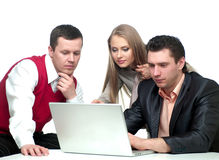 Free Two Men And Woman Working Royalty Free Stock Image - 19687176