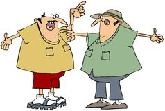 Two men arguing. This illustration depicts two men having a heated argument Stock Photography