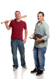Two men with baseball Stock Images