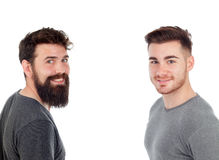 Two men with beard Stock Photo