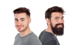 Two men with beard Stock Images