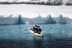 Two men in a canoe Royalty Free Stock Photography
