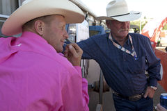 Two men with cowboy hats, Calgary Royalty Free Stock Photo