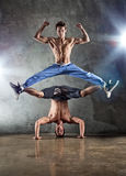 Two men dancing Royalty Free Stock Image
