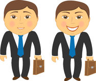 Two men in different emotions sad and happy Royalty Free Stock Images