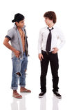 Two men of different ethnicity Stock Images