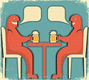 Two men drinking glasses of beer Royalty Free Stock Photography