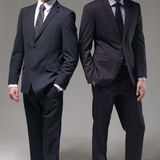 Two men in elegant suit Royalty Free Stock Photo