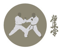 Two men are engaged in karate Stock Photography