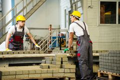 Two men on a factory Stock Images