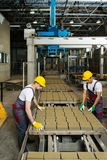 Two men on a factory Royalty Free Stock Images