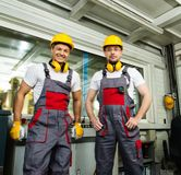 Two men on a factory Royalty Free Stock Photography