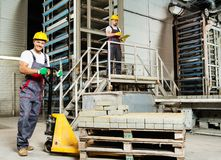 Two men on a factory Royalty Free Stock Photo