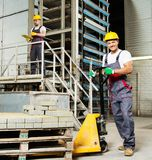 Two men on a factory Stock Photo