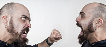 Two men fight Royalty Free Stock Photography