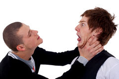 Two men fighting Stock Photo