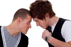 Two men fighting Stock Photography