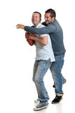 Two men with football Stock Photo
