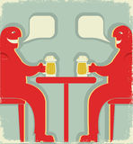 Two men with glasses of beer Stock Photo