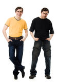 Two men with a happy and  sad Stock Photography