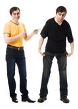 Two men with a happy and  sad Stock Photo