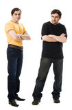 Two men with a happy and  sad Stock Images