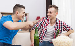 Two men having good time Stock Image
